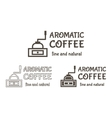 Set of Coffee mill Elements and Cafe vector image