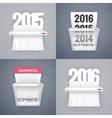 Set of Paper Shredder with Dates vector image
