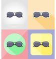 objects for recreation a beach flat icons 16 vector image