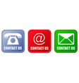 Contact buttons set vector image vector image