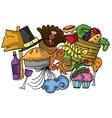 Thanksgiving element doodle art vector image