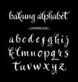 bakung alphabet lowercase character typography vector image vector image
