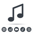 music icon musical note sign vector image
