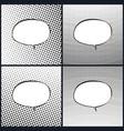 Set of oval retro style speech bubble pop art vector image