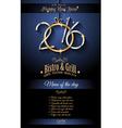 2016 Happy New Year Restaurant Menu Template vector image