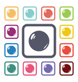 pearl flat icons set vector image