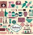 Bakery background vector image