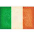 Flag of Ireland with grunge elements vector image