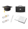graduation design elements vector image