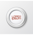 Realistic button icon vector image