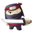 Serious ninja with sword vector image