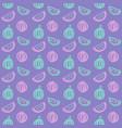 Watermelon brush seamless pattern vector image