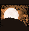 Spooky orange Halloween night vector image