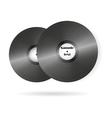 retro music vinyl records background vector image