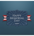 Happy Memorial Day festive Sign with Ribbon vector image