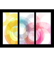 Set of abstract colorful circle backgrounds for vector image vector image