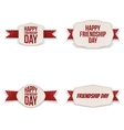 Friendship Day greeting Banners Set vector image