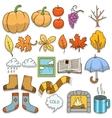 Autumn design elements vector image