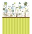 Beautiful flowers greeting card vector image