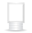 City light white billboard vector image