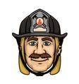 Firefighter or fireman in protective helmet vector image