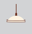 Hanging lamp vector image