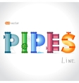 pipes text vector image
