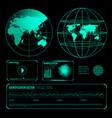 search radar screen blue elements set vector image