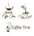 Set of coffee time logo design vector image