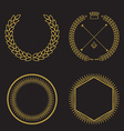 set of outline emblems and badges - abstract vector image