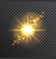 Sun on transparent background vector image