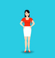 young woman korean wearing casual clothes standing vector image