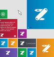 Pocket knife icon sign buttons Modern interface vector image