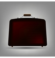 Blue suitcase icon vector image