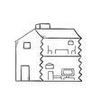 sketch of the house vector image