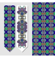 decorative ethnic paisley bookmark for printing vector image