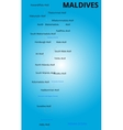 color map of Maldives country vector image vector image