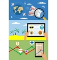 Three banners on theme of tourism and travel vector image