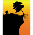 tree on a cliff vector image