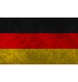 German Flag Grunge vector image vector image
