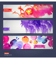 abstract hand drawn set of tree watercolor vector image