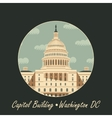 Capitol Building in Washington vector image