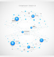 company profile overview template with blue vector image