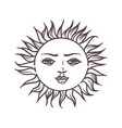 hand drawn magic esoteric sun planet star vector image