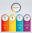 Infographic template with 4 options vector image