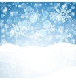 Winter background with snow Christmas snow banner vector image