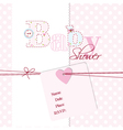 Baby Girl Arrival Card vector image