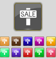 Sale price tag icon sign Set with eleven colored vector image
