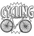Cycling vector image