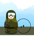 Matryoshka sniper with special weapons vector image vector image